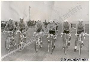 Reims 1958 da sx Margotti-Bariviera-Bampi-Martini-Venturelli-Trapè